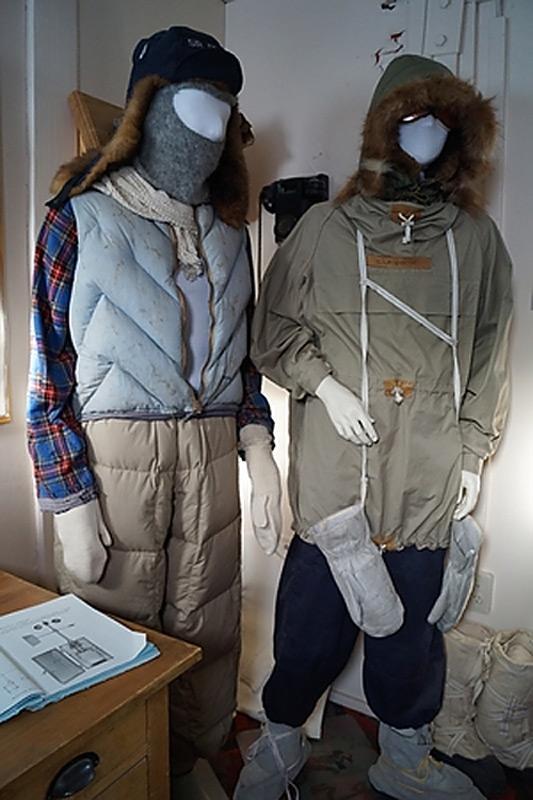 Die Kleidung von damals zeigt bereits grosse Ähnlichkeit zu den heutigen Ausrüstungsgegenständen. Bild: Antarctic Heritage Trust
