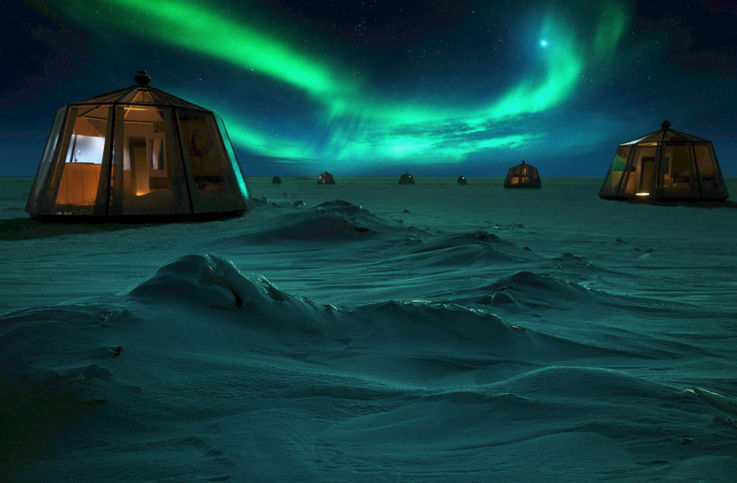 Ein warmes Bett an einem der unwirtlichsten Orte der Welt. Wer genügend Geld hat, kann sich diesen